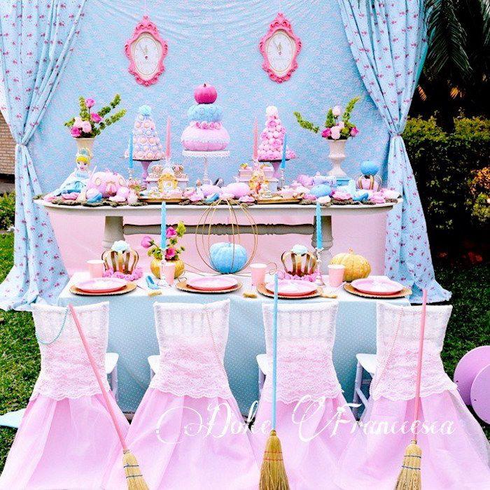 Party Setup From A Cinderella Birthday Via Kara S Ideas