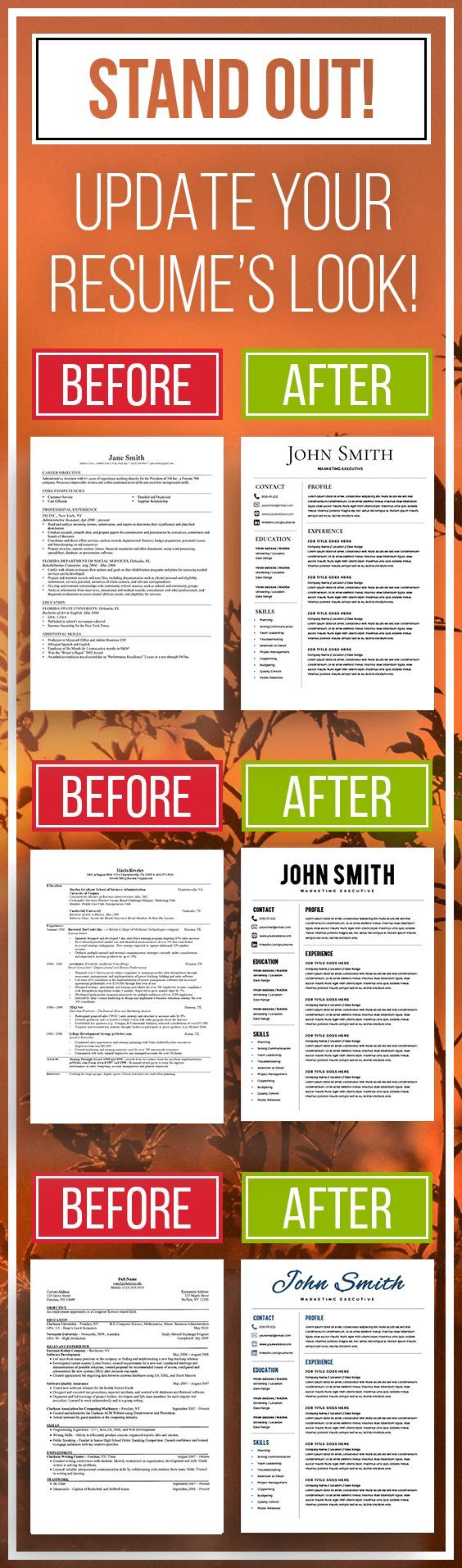 Microsoft Word Resume Templates Including A Cover Letter And An