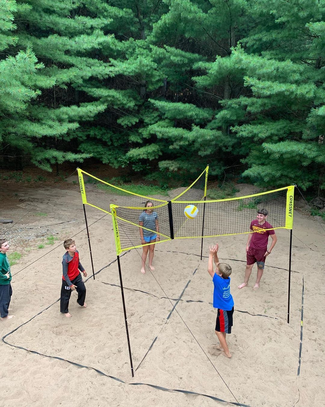Sometimes The Kids Don T Want To Adjust The Height In The Heights Volleyball Games Volleyball