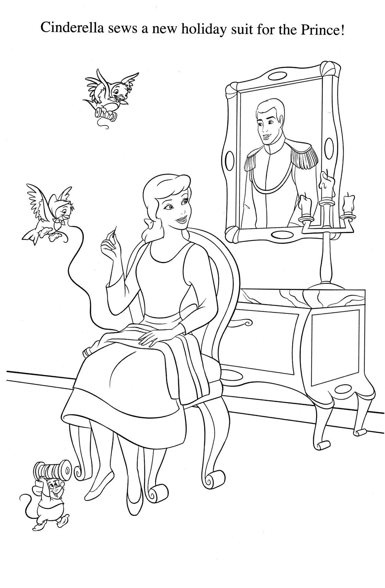coloriage cendrillon  Cinderella coloring pages, Disney coloring