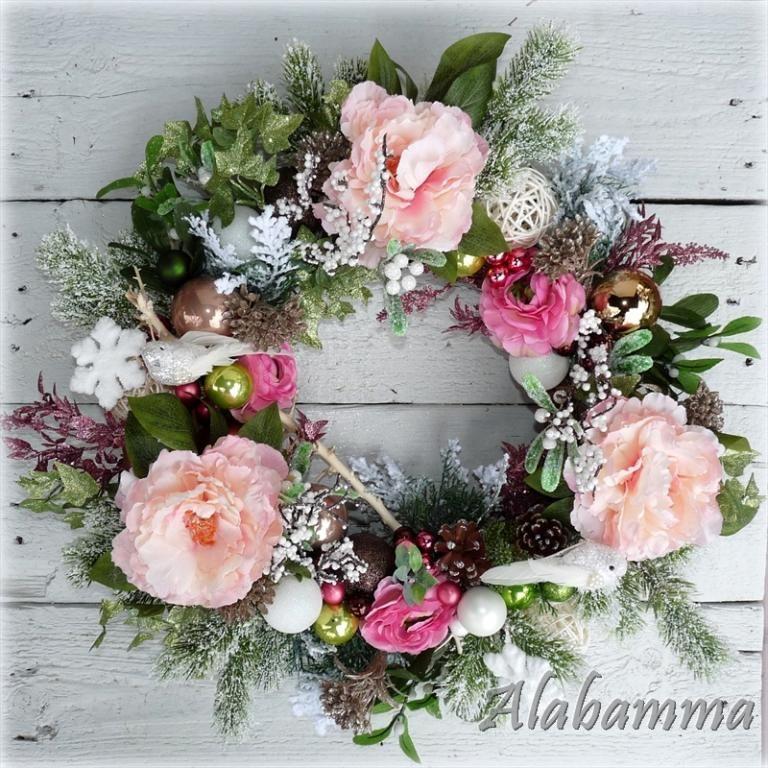 Wianek Boze Narodzenie Swieta Swiateczny Stroik Xl 4899601331 Oficjalne Archiwum Allegro Floral Wreath Floral Wreaths