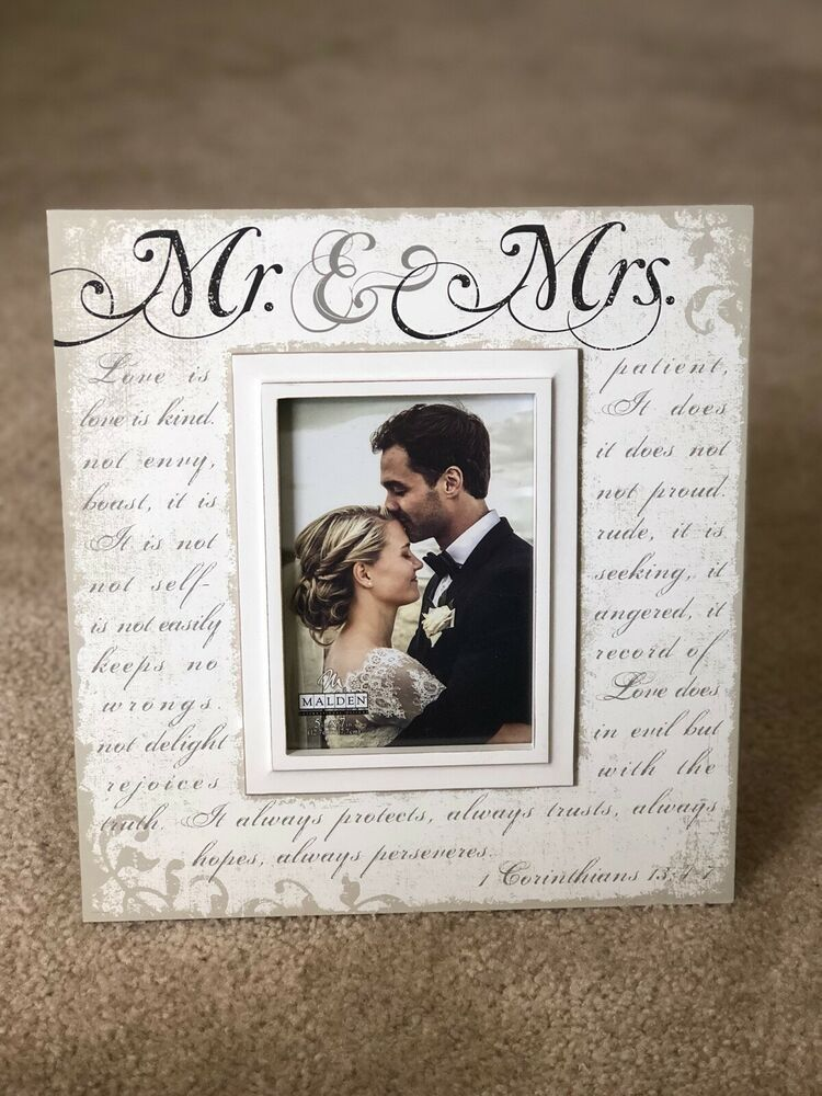 Malden Mr Mrs Photo Wedding Frame 13 25 X 12 5 X 7 Photo Corinthian Fashion Home Garden Wedding Frames Wedding Picture Frames Heart Picture Frame