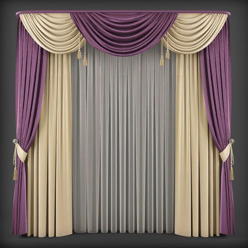 Curtain 3d Model 206 3d Model Luxury Curtains Curtain Designs For Bedroom Living Room Decor Curtains
