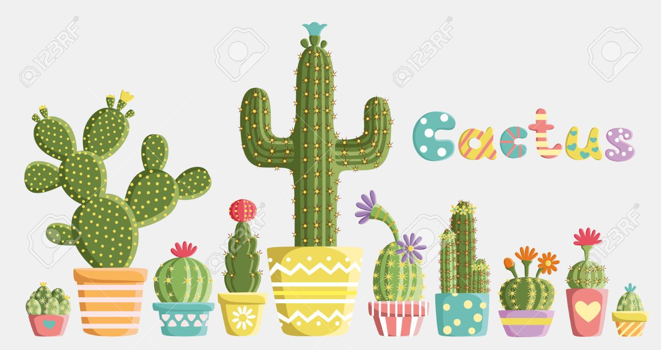 Cactus Doodle Stock Vector Illustration And Royalty Free Cactus
