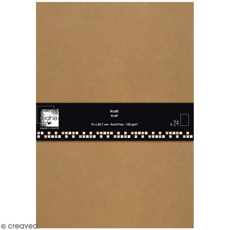 Papier Scrapbooking Toga Color Factory Kraft 24 Feuilles En