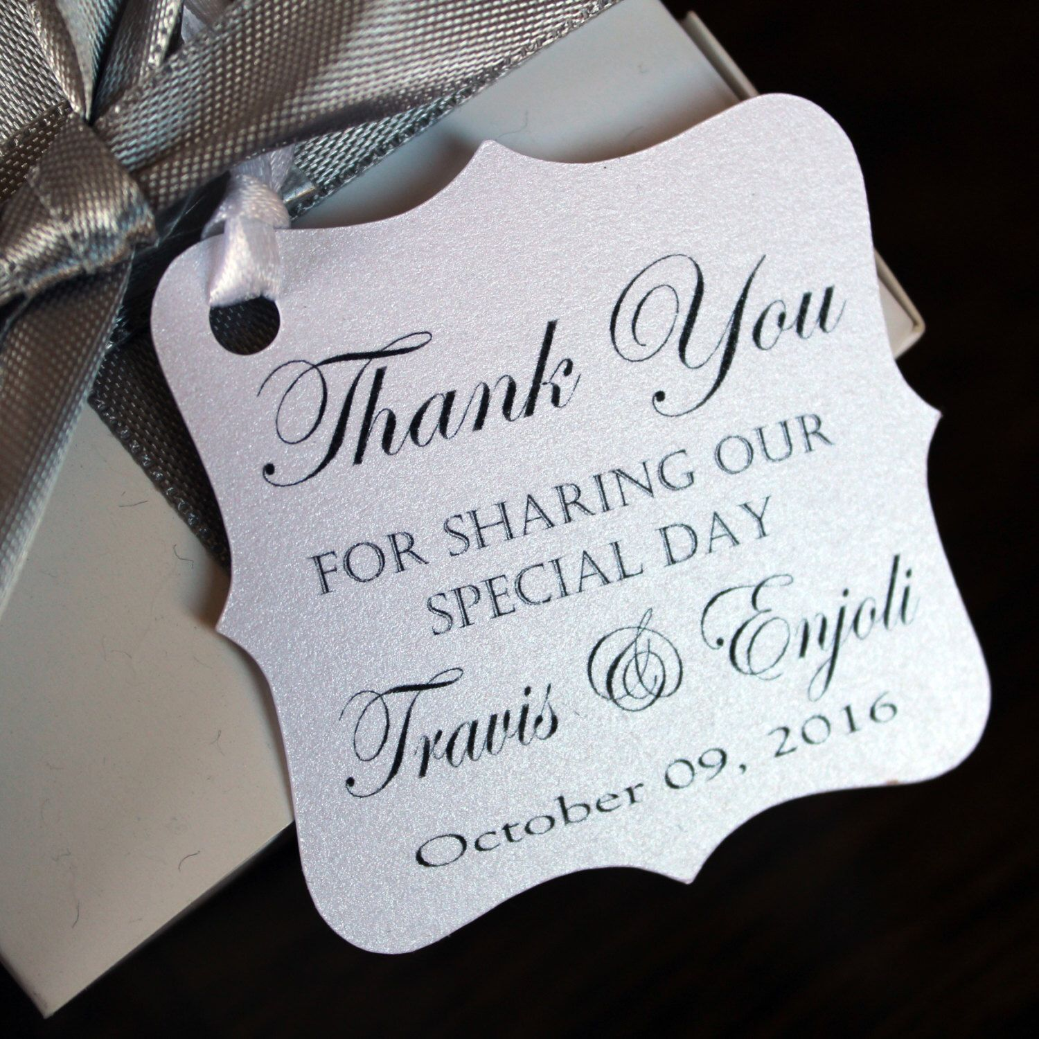 wedding thank you tags personalized wedding favor tags thank you