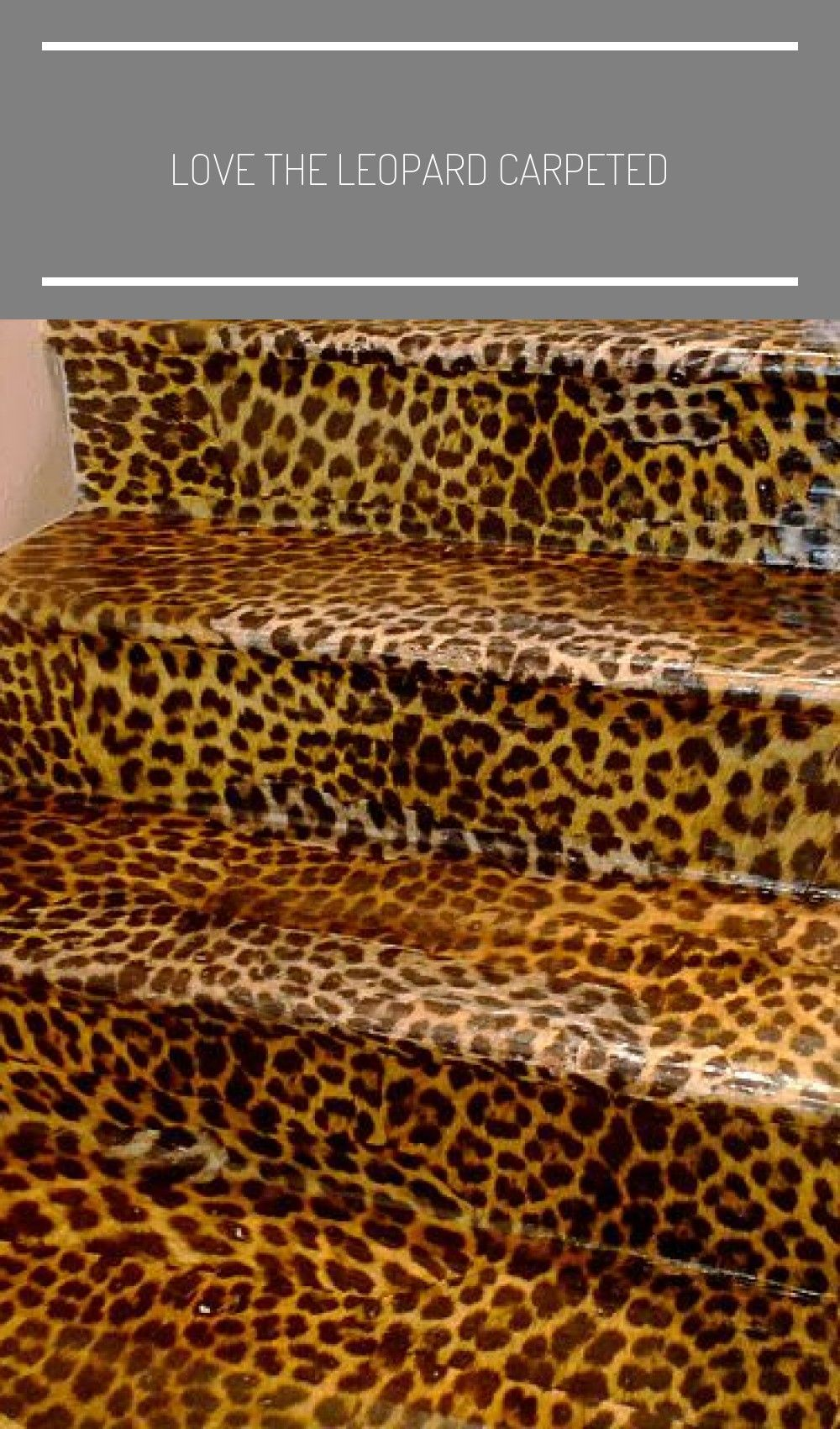 Best Love The Leopard Carpeted In 2020 Carpet Stairs Leopard 640 x 480