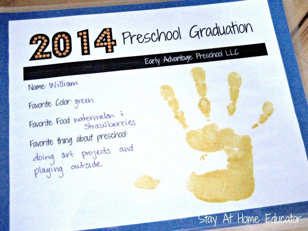 Preschool Graduation On The Cheap - graduation certificate