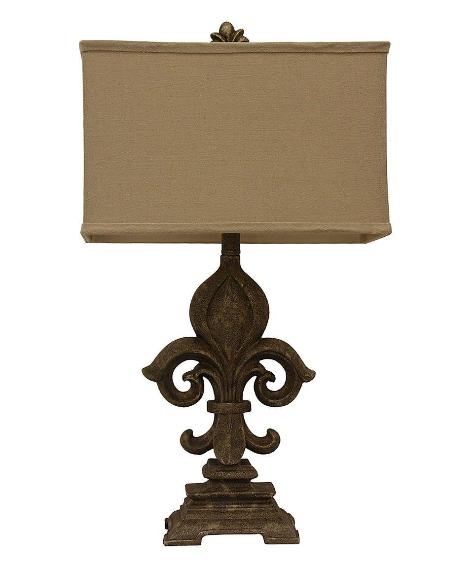 Fleur De Lis Table Lamp Decor Therapy Table Lamp Lamp