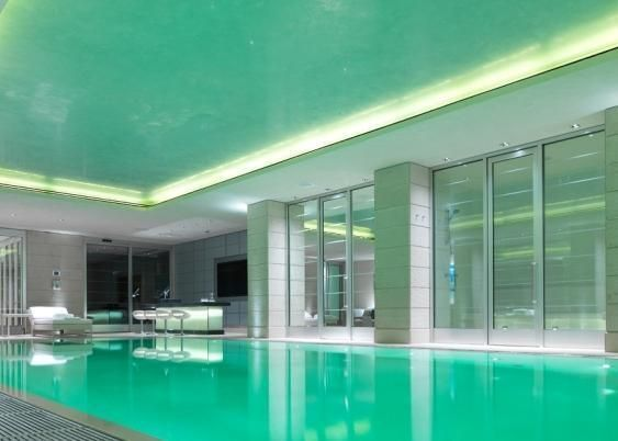 Indoor swimming pool 7 bedroom house on hamilton terrace for Swimming pool plans for sale