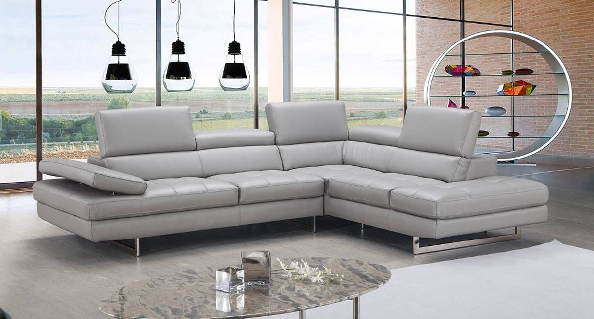 Exclusive Modern Leather L Shape Sectional Small Sectional Sofa