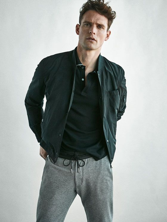 a0b23b10bea1 Autumn Spring summer 2017 Men´s SOFT BOMBER-STYLE TECHNICAL JACKET at  Massimo Dutti for 140. Effortless elegance!