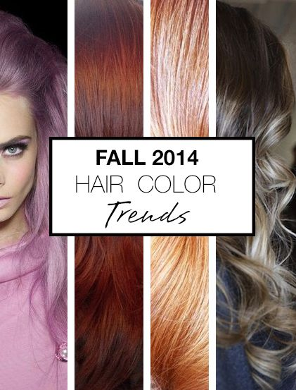 It S Here Our Fall 2014 Hair Color Trend Report These Soft Metallic Hues Are To Dye For Hair Color Trends Hair Styles Fall Hair