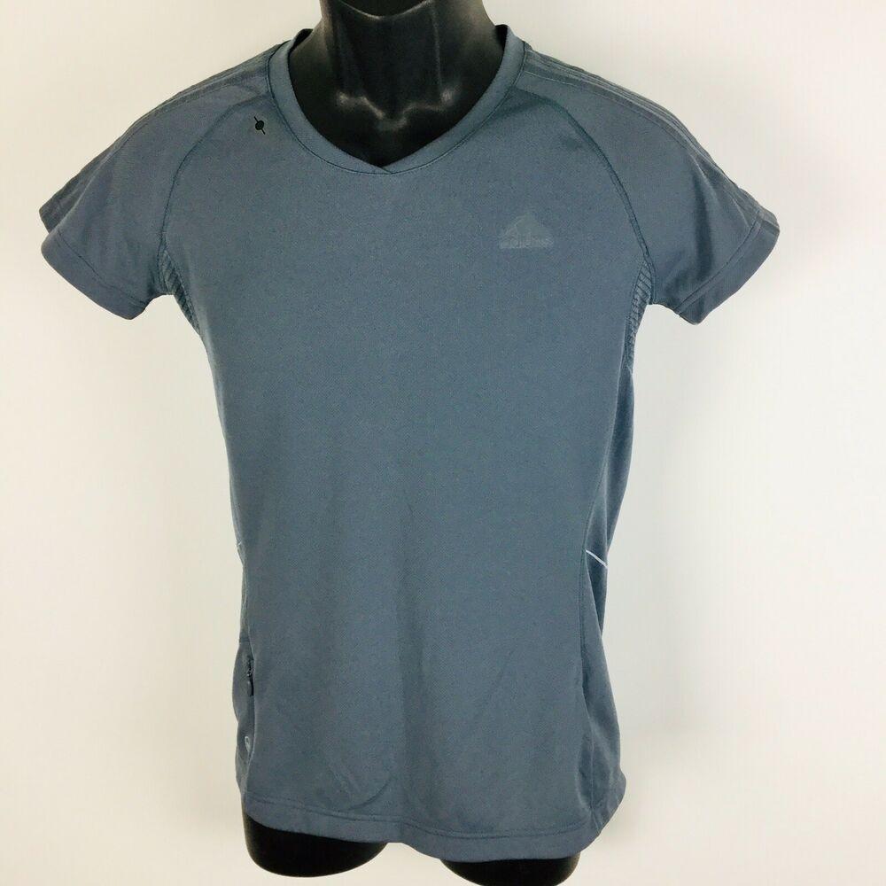 38ee6843c464c Adidas Mi Supernova Short Sleeve Active T Tee shirt Top Womens M Gray   adidas  ActivewearShortSleeve