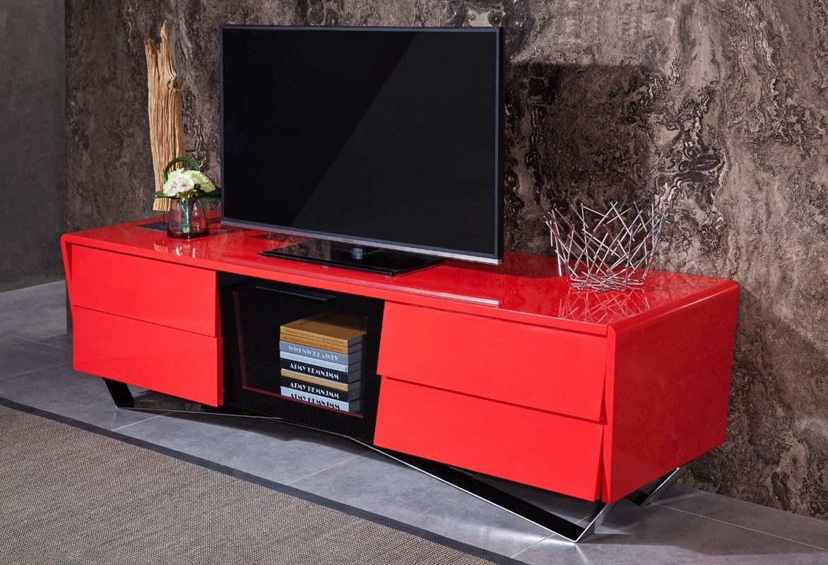 Vig Furniture Modrest Max Modern Red Tv Stand Vgwctv G02 Red