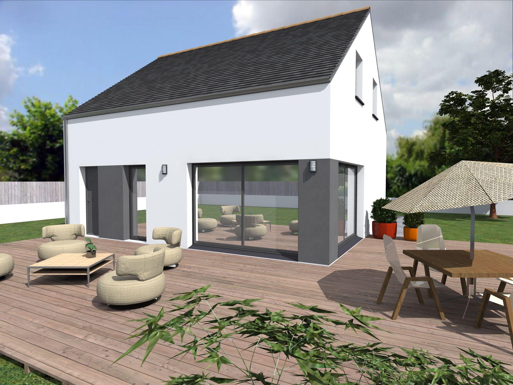 Les maisons TALINE de 116 m² habitables  toit ardoise résidences d
