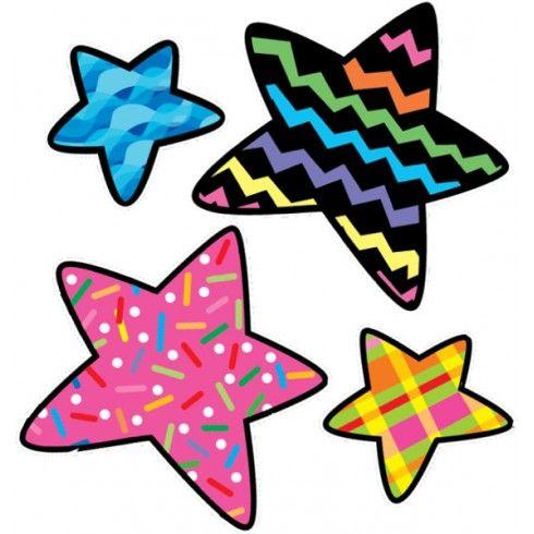 Stars Poppin Patterns Stickers Estrellas Para Imprimir Estrellas De Colores Corazones Imprimibles