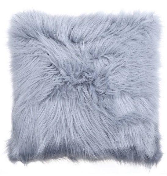 fur pillow grey throw pillows