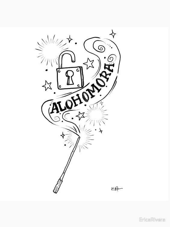 Alohomora Hogwarts Ideen Fürs Zeichnen Harry Potter Zeichnungen