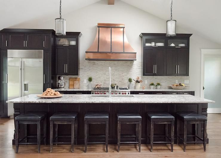 Best Black Kitchen Features Black Cabinets Paired With A White 400 x 300