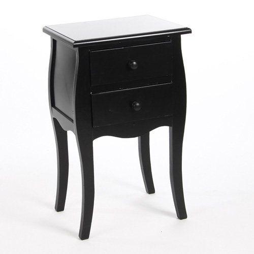 Table De Chevet Amazon table de chevêt bartok - 2 tiroirs - noir atmosphera https://www
