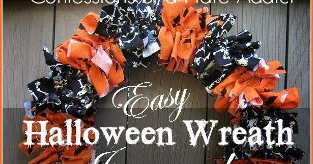 Photo of Simple Halloween fabric wreath … just tie it!