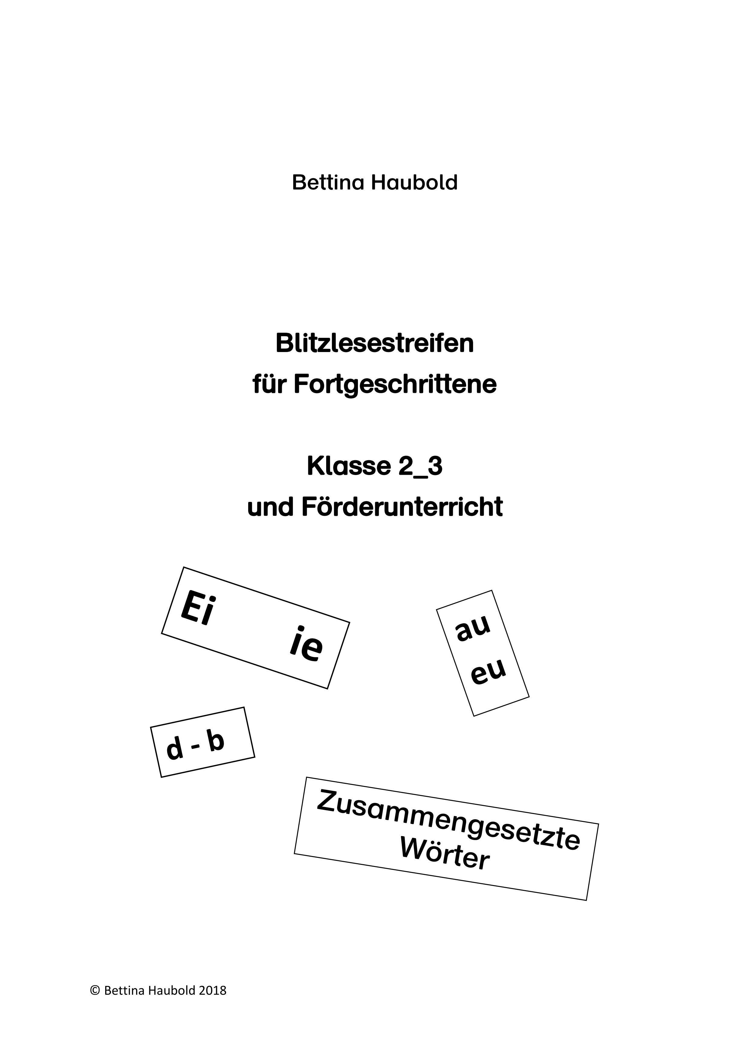 Blitzlesestreifen Unterrichtsmaterial Im Fach Deutsch Lesen