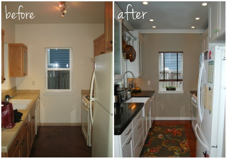 Small Kitchen DIY Ideas - Before  After Remodel Pictures of Tiny
