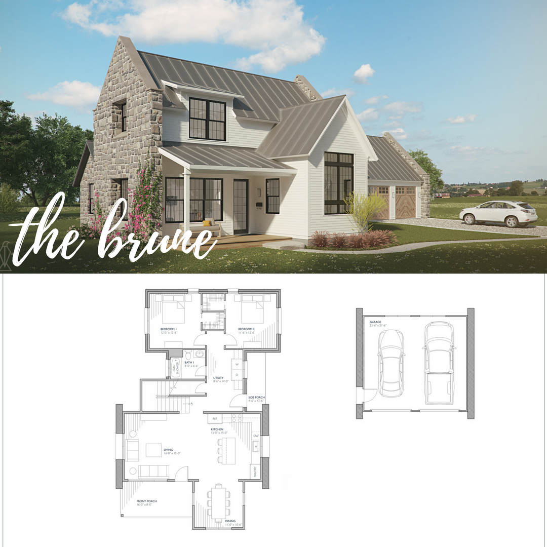 Brune Farmhouse Style House Plans Farmhouse Plans Farmhouse Style House