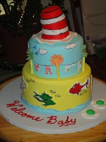 Amazing Dr Seuss Baby Shower Cake