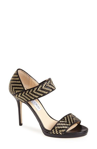 Jimmy Choo 'Alana' Woven Strap Sandal (Women) available at #Nordstrom