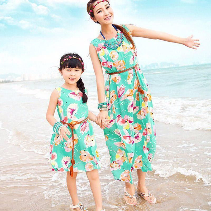 family clothing sets famliy matching mother and daughter