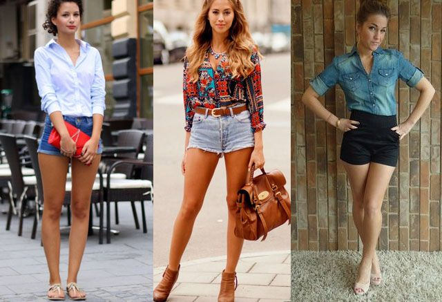 high waisted shorts ways to wear | Fashion | Pinterest | High ...