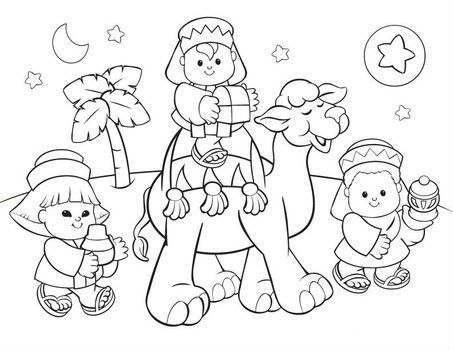 Fisher Price Camels Printable Christmas Coloring Pages
