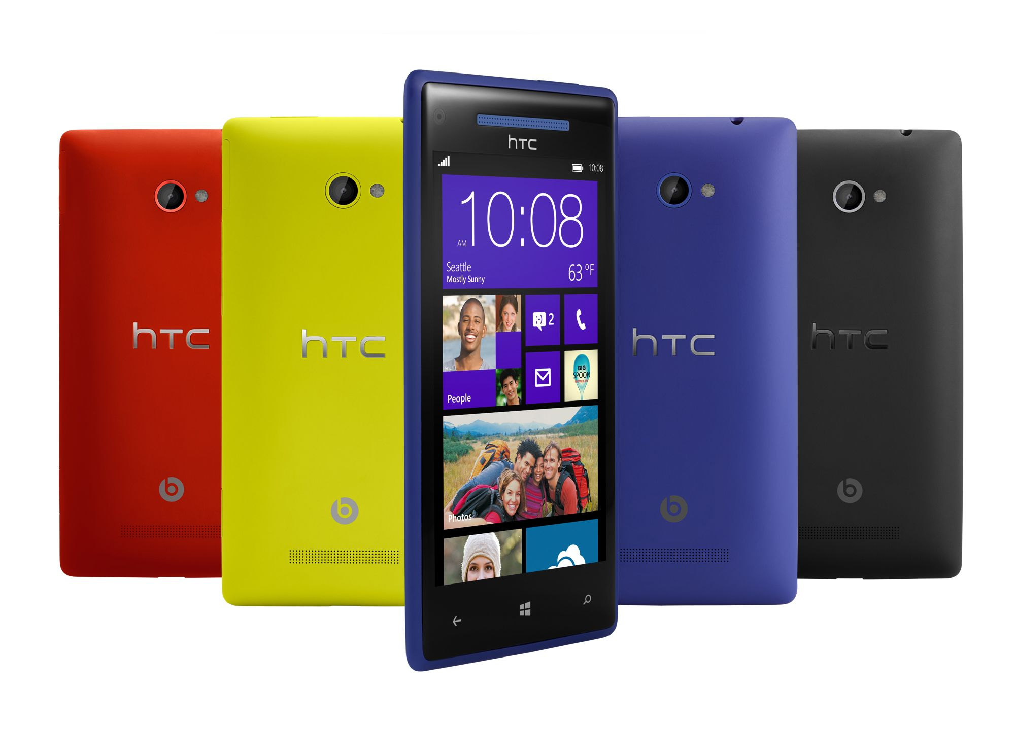 HTC Windows Phone 8X, as featured in the Microsoft 2012