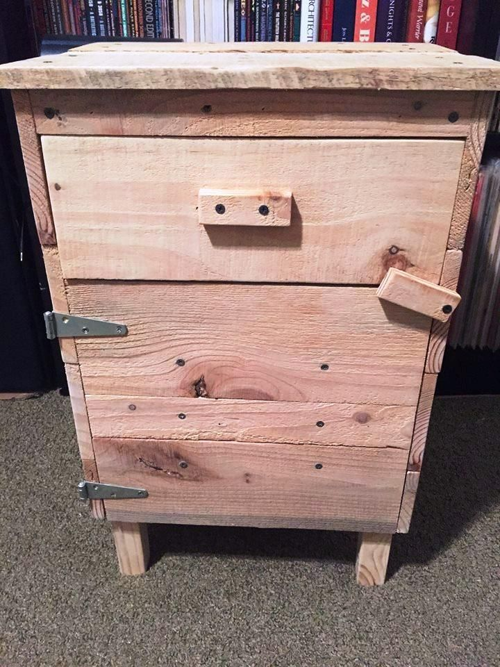 Wood Pallet End Table   Fabrications   Pinterest   Wood pallets ...