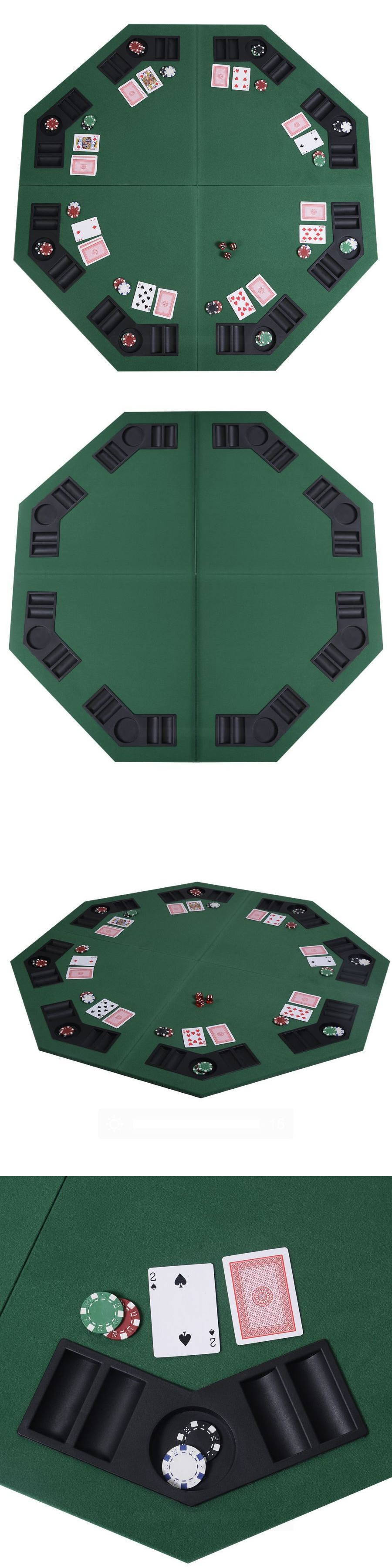 Card Tables And Tabletops 166572: 48 Green Poker Table Top 8 Player Folding  Octagon Poker