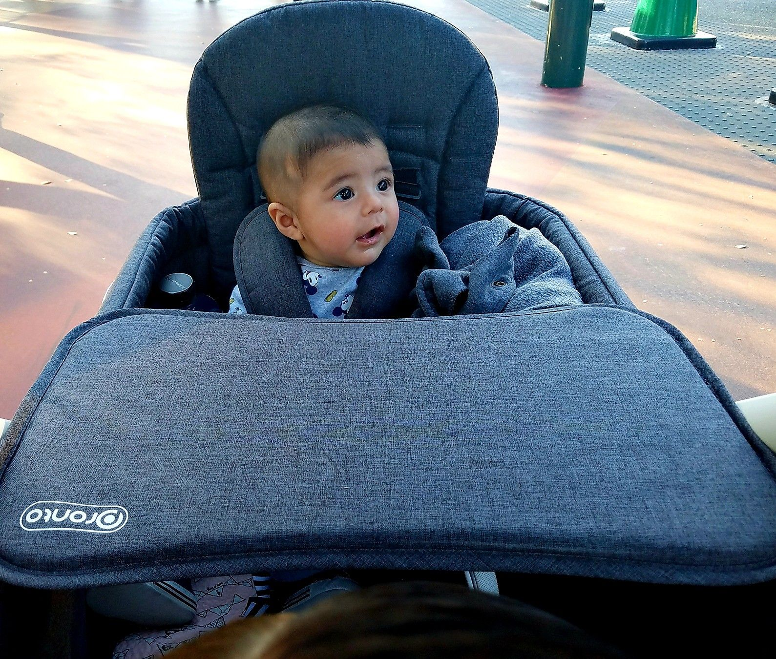 Oliver at 4 months in the Pronto Stroller wagon Stroller