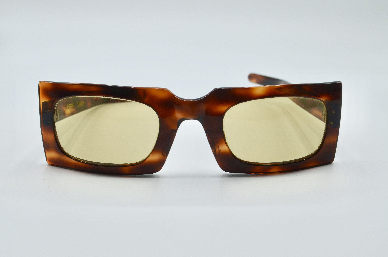 Pierre Cardine ultra rare squared tortoise sunglasses 1960s