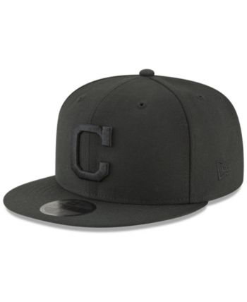 separation shoes 3d1f5 2a5d4 New Era Cleveland Indians Blackout 59FIFTY Fitted Cap - Black 7 3 4