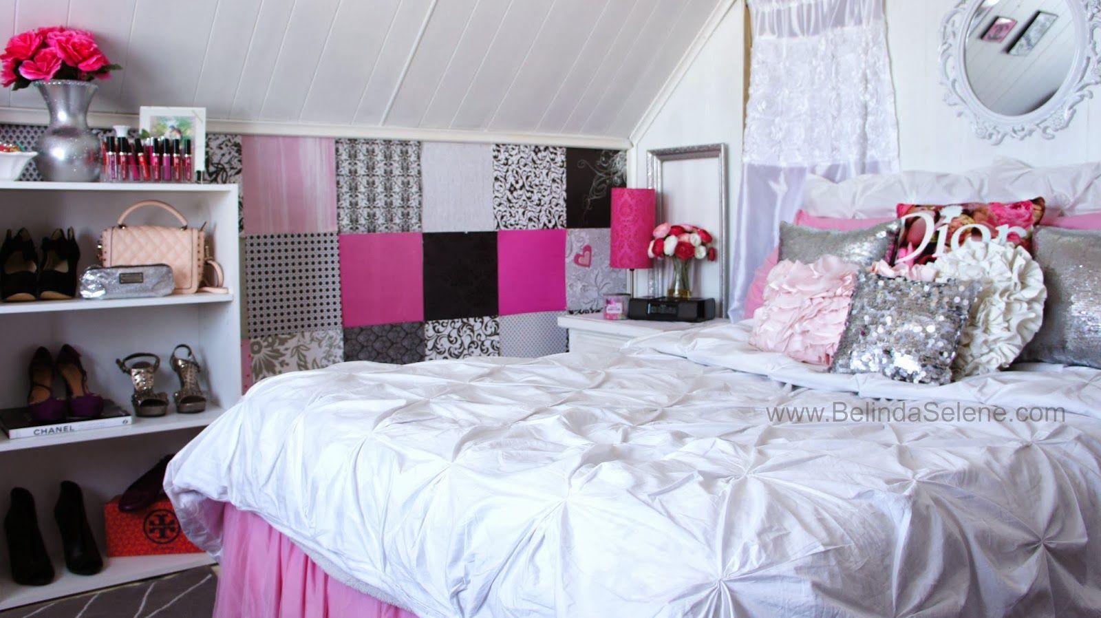 Modern Shabby Chic Room Tour! BelindaSelene.com | Room ...