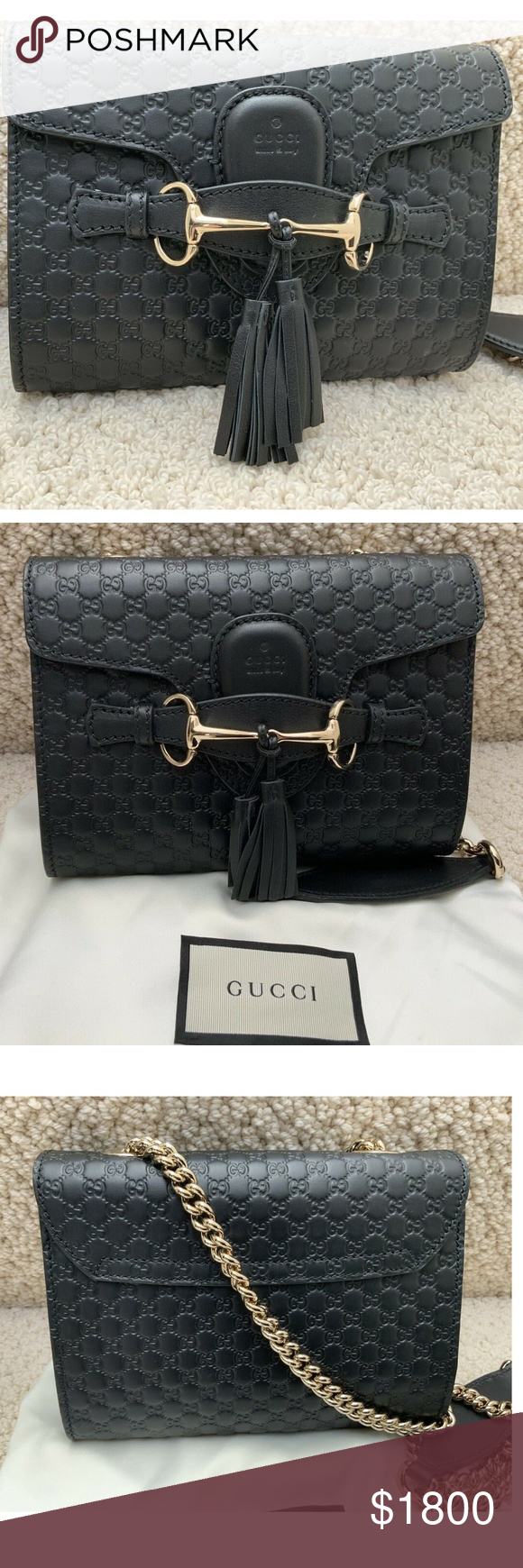 adc5f70b637 GUCCI Emily Small Microguccissima Leather Shoulder Authentic new with tags  gucci Crossbody Brand  Gucci Condition