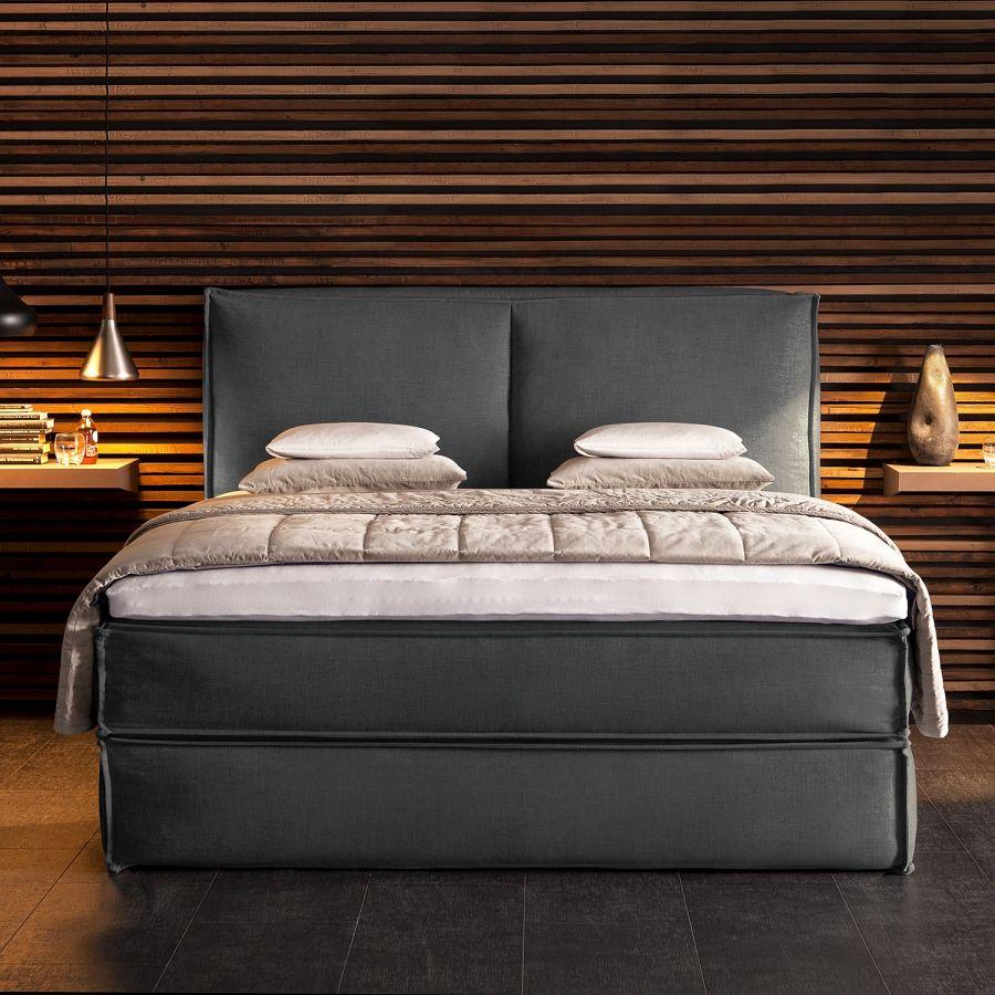 Boxspringbed kinx geweven stof bedroom inspiration pinterest stof slaapkamer en interieur - Eenvoudig slaapkamer model ...