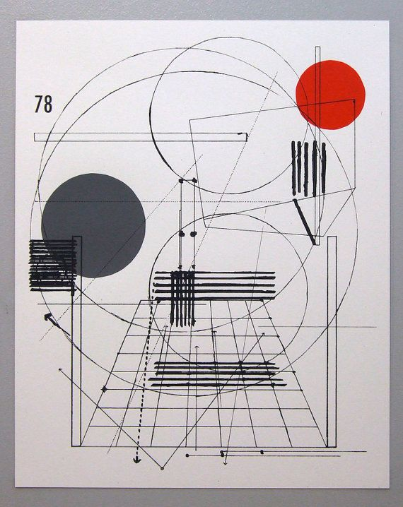 Perspective Architecture 2, Architectural Graphic Design, 16 X 20 Inches  Silkscreen Print