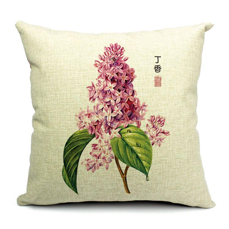 Powolne Dusza Amerykanska Wies Kwiat Poszewka Poszewka Na Poduszke Cojin Almofada Funda Housse De Coussin Poet Cotton Pillow Cases Trendy Pillow Garden Pillows