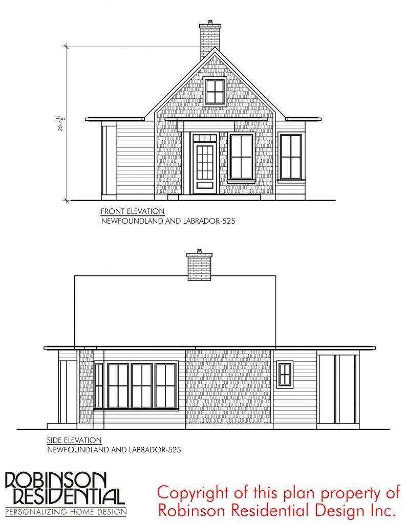 Newfoundland And Labrador 525 Robinson Plans Residential Design Newfoundland And Labrador Small Cottages
