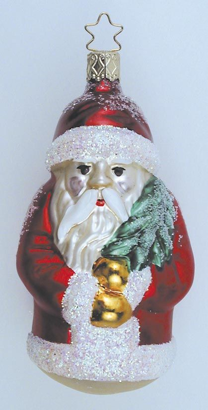Inge Glas Christbaumschmuck Weihnachtsmann Aus Dem Hause Inge Glas
