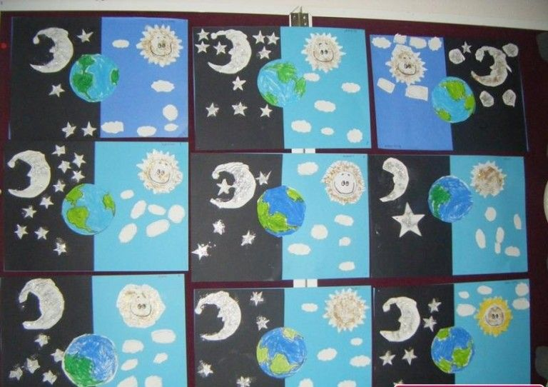 day and night craft idea for kindergarten (1) | Crafts and ...