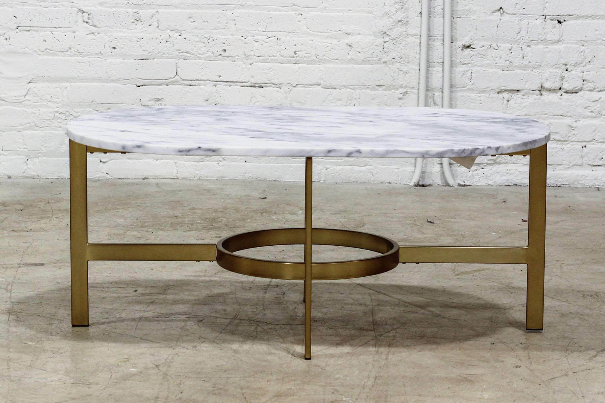 Marble Oval Coffee Table With Brass Base Coffee Table Oval Coffee Tables Luxury Furniture [ 1365 x 2048 Pixel ]