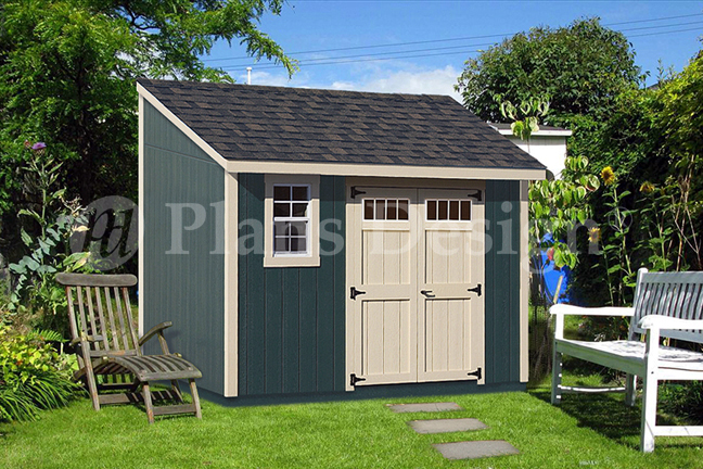 Design D0812l 8 X 12 Deluxe Lean To Shed Plans Roof Style Lean To Building 8 X 12 Overall H Storage Building Plans Building A Shed Diy Shed Plans